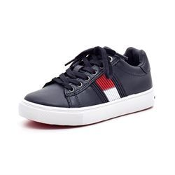Tommy Hilfiger Lace Up sneakers m. snøre/lynlås navy