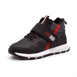 Tommy Hilfiger Lace Up høj velcro sneakers rød/sort