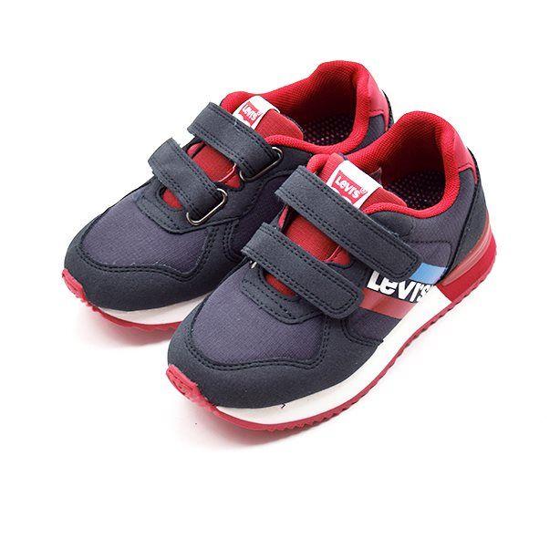 84f80a48107b Levi s Springfield velcro sneaker navy rød