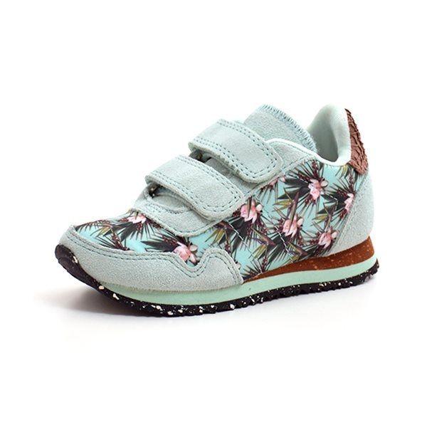 0764935fe90 Woden Wonder sneaker blomster print mint grøn