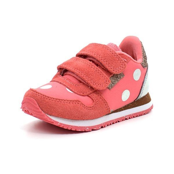 8e1e8584594 Woden Wonder Nora Dot II kids sneaker m. sølvprikker koral