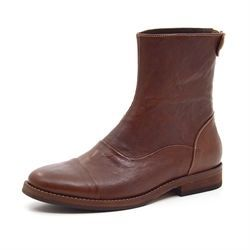 Mentor backzip boot dark brown