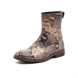 Mentor backzip boot snake sort/beige