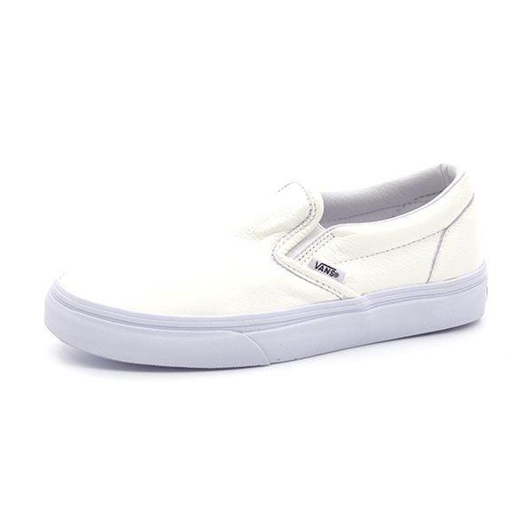 Hvide Vans Slip On